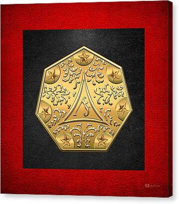 12th Degree Mason - Master Architect Masonic Jewel  Canvas Print by Serge Averbukh