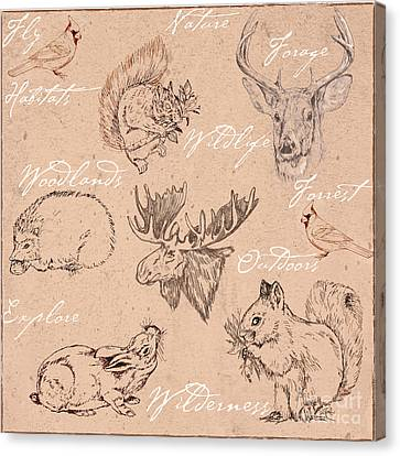 Wildlife Animal Pattern Canvas Print