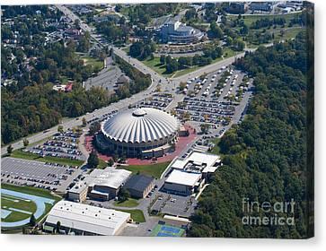 aerials of WVVU campus Canvas Print by Dan Friend