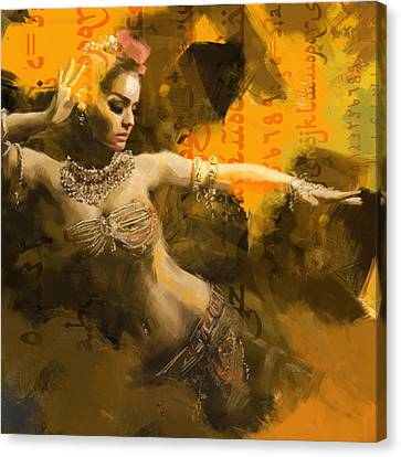 Belly Dancer Canvas Print by Corporate Art Task Force