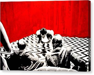 Black Lodge Canvas Print by Luis Ludzska