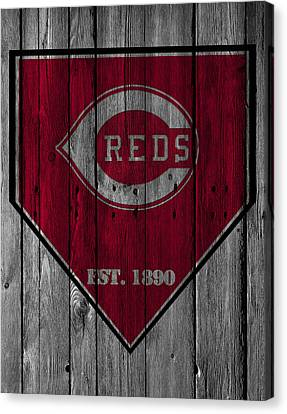 Cincinnati Reds Canvas Print by Joe Hamilton