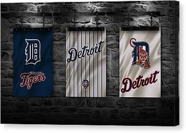 Detroit Tigers Canvas Print by Joe Hamilton