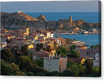France, Corsica, La Balagne, Ile Canvas Print by Walter Bibikow