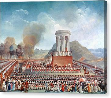 French Revolution 1790 Canvas Print by Granger