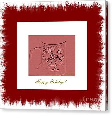 Happy Holidays Canvas Print by Oksana Semenchenko