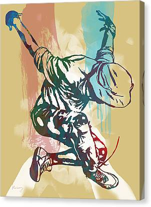 Hip Hop Street Dancing  Pop Stylised Art Poster Canvas Print