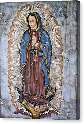 Our Lady Of Guadalupe Canvas Print by Rain Ririn