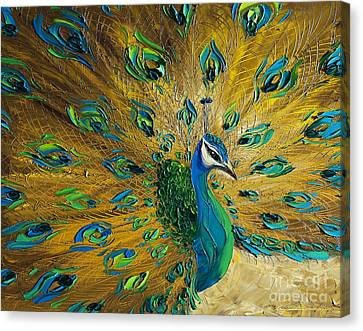 Print On Canvas Print - Peacock by Willson Lau