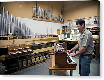 Pipe Organ Factory Canvas Print by Jim West
