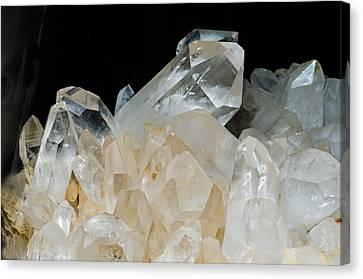 Inorganic Solid Canvas Print - Quartz Crystals by Millard H. Sharp