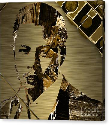 Terrence Howard Collection Canvas Print by Marvin Blaine