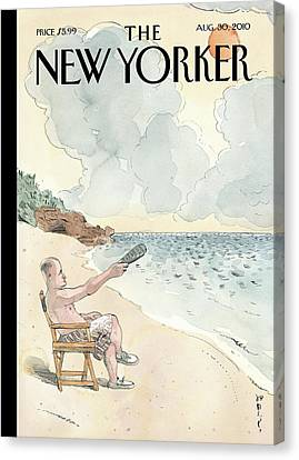 New Yorker August 30th, 2010 Canvas Print by Barry Blitt