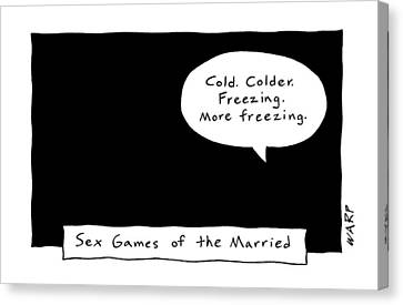 Kim Canvas Print - Captionless; Sex Games Of The Married by Kim Warp