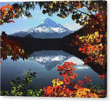 Mountain Cabin Canvas Print - Usa, Oregon, Mt Hood National Forest by Jaynes Gallery