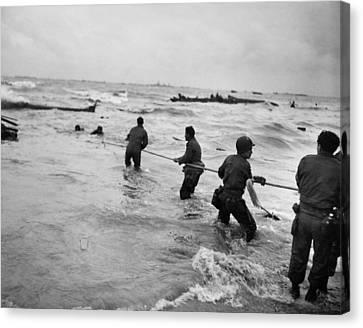 Lifeline Canvas Print - World War II: D-day, 1944 by Granger