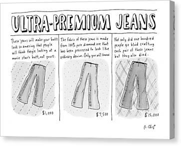 Ultra-premium Jeans Canvas Print