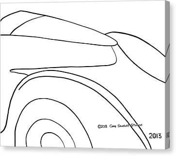 136-ls 'flash Fiat' Canvas Print