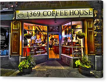 1369 Coffee House Cambridge Ma Canvas Print by Toby McGuire