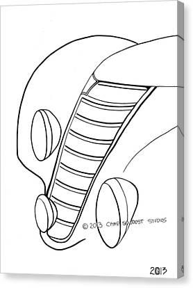 137-ls 'rainbow Fiat' Canvas Print