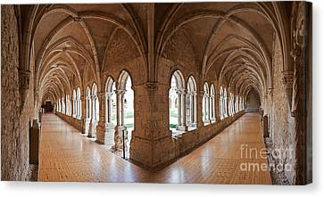 13th Century Gothic Cloister Canvas Print by Jose Elias - Sofia Pereira
