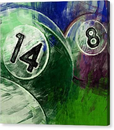 14 8 Billiards Canvas Print