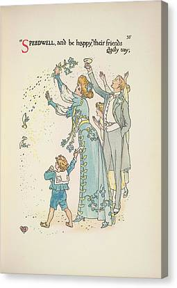 A Flower Wedding Canvas Print by British Library