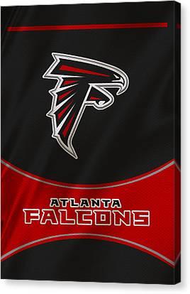 Falcon Canvas Print - Atlanta Falcons Uniform by Joe Hamilton