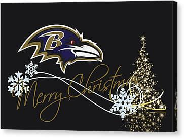 Baltimore Ravens Canvas Print by Joe Hamilton