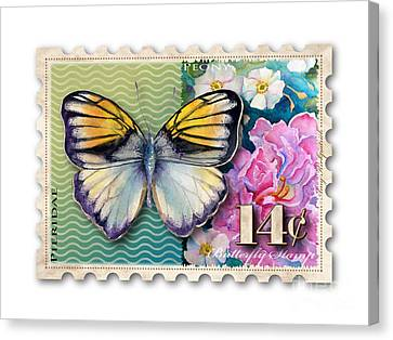14 Cent Butterfly Stamp Canvas Print by Amy Kirkpatrick