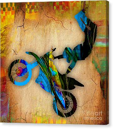 Motorcycle Canvas Print - Dirt Bike by Marvin Blaine