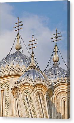 Icon Byzantine Canvas Print - Episcopal Cathedral Of Curtea De Arges by Martin Zwick