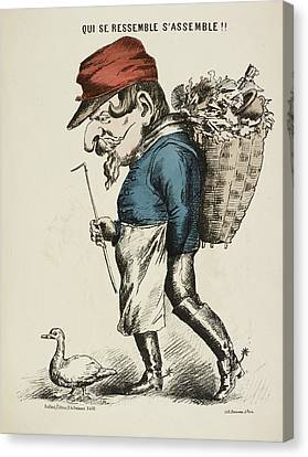 French Caricature Canvas Print