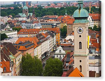 High Angle View Of Buildings Canvas Print