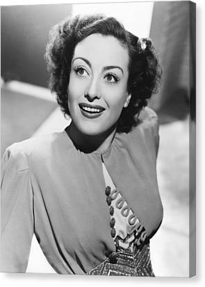 Joan Crawford Canvas Print by Silver Screen
