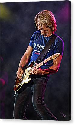 Keith Urban Canvas Print by Don Olea