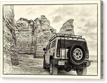 Monument Rocks - Chalk Pyramids Canvas Print by Bill Kesler
