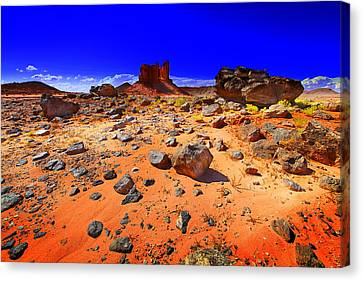 Canvas Print featuring the photograph Monument Valley Usa by Richard Wiggins