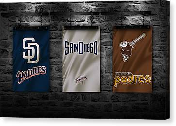 San Diego California Baseball Stadiums Canvas Print - San Diego Padres by Joe Hamilton