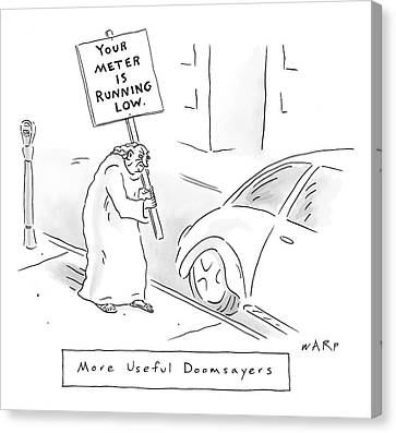 Kim Canvas Print - New Yorker February 11th, 2008 by Kim Warp
