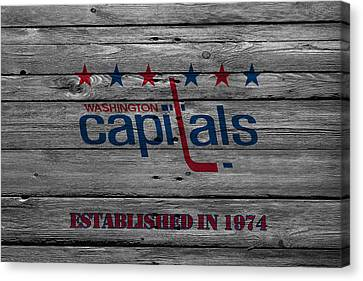 Skates Canvas Print - Washington Capitals by Joe Hamilton