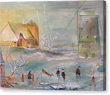 Winter Landscape Canvas Print by Egidio Graziani