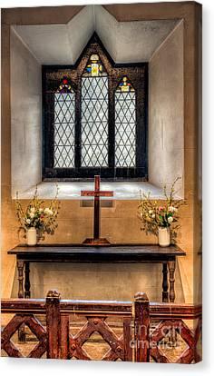 Ledge Canvas Print - 14th Century Chapel by Adrian Evans