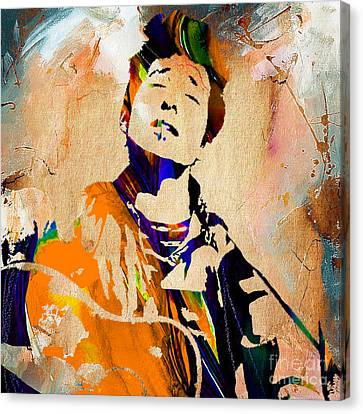 Bob Dylan Collection Canvas Print by Marvin Blaine