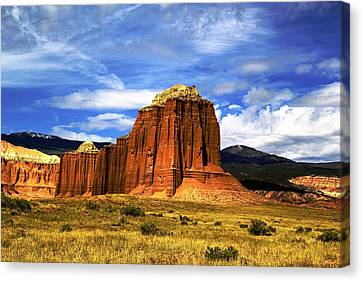 Capitol Reef National  Park Cathedral Valley Canvas Print