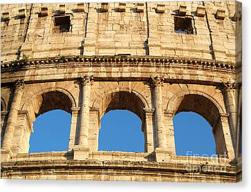 Colosseum In Rome Canvas Print by George Atsametakis