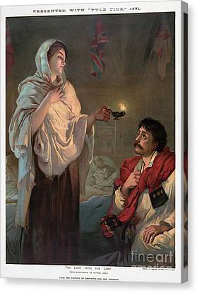 Florence Nightingale Canvas Print by Granger