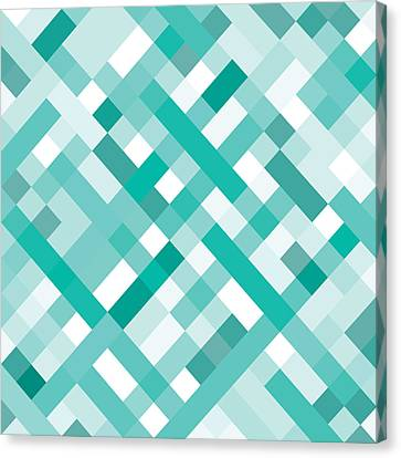 Canvas Print featuring the digital art Geometric by Mike Taylor