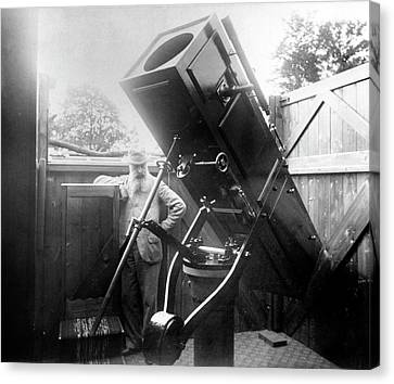 15-inch Reflector Telescope Canvas Print by Royal Astronomical Society