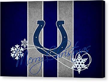 Indianapolis Colts Canvas Print by Joe Hamilton
